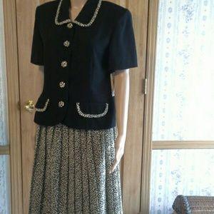 2pc Skirt & Blouse Set.